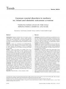 Common mental disorders in mothers vs. infant and obstetric ... - SciELO