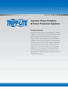 Common Power Problems & Power Protection Solutions - Tripp Lite