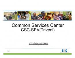 Common Services Center - agra.nic.in