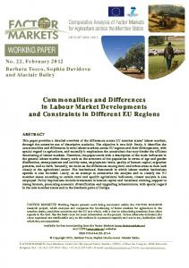 Commonalities and Differences in Labour Market Developments and ...