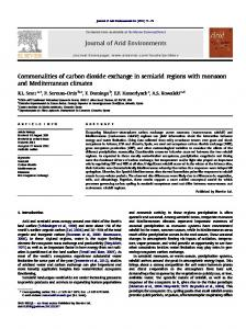 Commonalities of carbon dioxide exchange in semiarid regions with ...