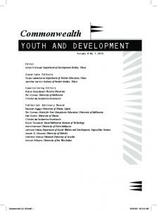 Commonwealth YOUTH AND DEVELOPMENT