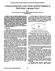 Communicating with Lunar Orbiter by Relay Satellites at Earth-Moon ...