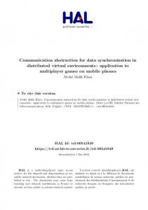 Communication abstraction for data synchronization ...