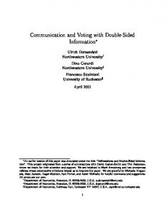 Communication and Voting with Double-Sided Information