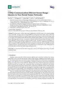 Communication-Efficient Secure Range Queries in ... - Semantic Scholar