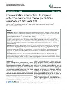 Communication interventions to improve adherence to ... - CiteSeerX