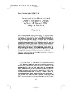 Communication Networks and Changes in Electoral Choices: A Study ...
