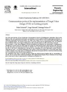 Communication Protocol for Implementation of Target ... - ScienceDirect