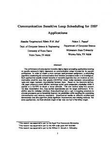 Communication Sensitive Loop Scheduling for DSP Applications
