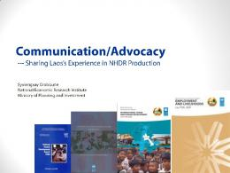 Communication Strategies for HDRs: Lao PDR Experience by ... - UNDP