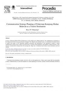 Communication Strategy Planning of Fisherman ... - Science Direct