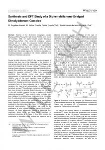 COMMUNICATION Synthesis and DFT Study of a