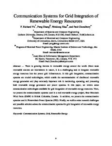 Communication Systems for Grid Integration of Renewable Energy ...