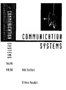 Communication Systems - Fourth Edition
