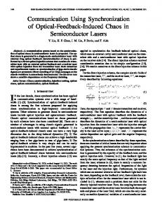 Communication using synchronization of optical ... - IEEE Xplore