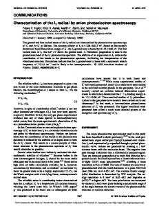 COMMUNICATIONS Characterization of the I3 radical by anion ...