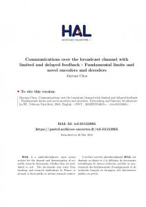 Communications over the broadcast channel with