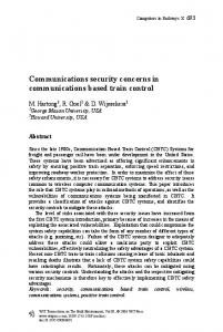 Communications security concerns in communications ... - WIT Press