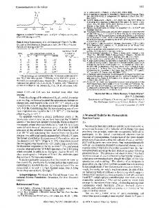 Communications to the Editor References and Notes A Structural ...