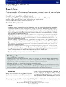 Communicative effectiveness of pantomime ... - Wiley Online Library