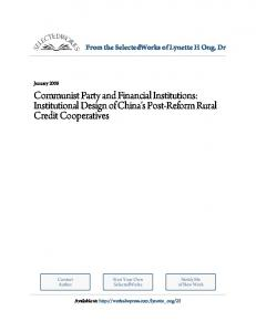 Communist Party and Financial Institutions ... - WordPress.com