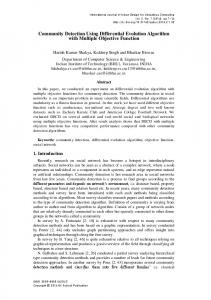 Community Detection Using Differential Evolution Algorithm with ...