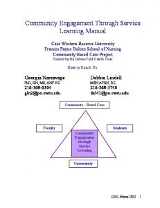 Community Engagement Through Service Learning Manual - UW ...