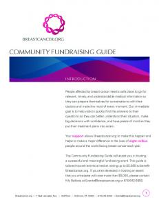 COMMUNITY FUNDRAISING GUIDE