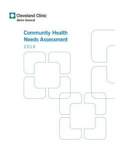 Community Health Needs Assessment - Akron General