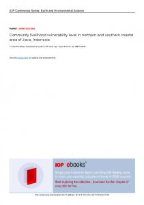 Community livelihood vulnerability level in northern