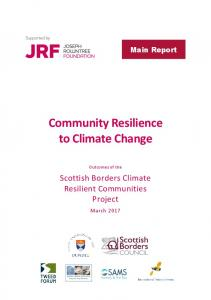 Community Resilience to Climate Change