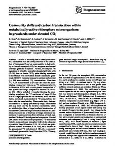 Community shifts and carbon translocation within ... - Biogeosciences