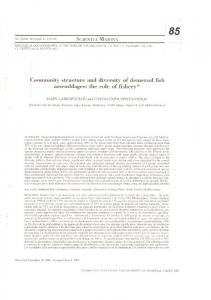 Community structure and diversity of demersal fish
