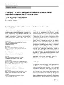 Community structure and spatial distribution of benthic ... - Springer Link