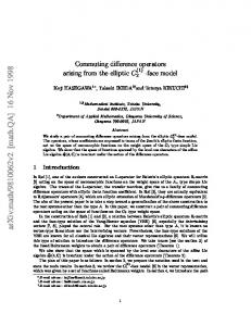 Commuting difference operators arising from the elliptic C (-face model
