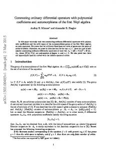 Commuting ordinary differential operators with polynomial coefficients