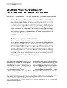 comorbid anxiety and depression disorders in