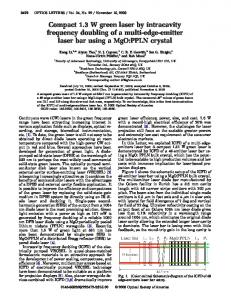 Compact 1.3 W green laser by intracavity frequency ... - OSA Publishing
