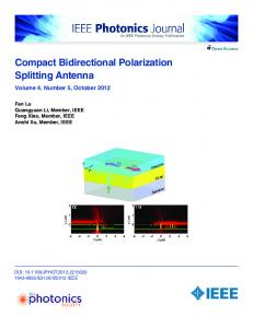 Compact Bidirectional Polarization Splitting Antenna - IEEE Xplore