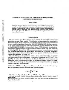 Compact operators on the sets of fractional difference sequences