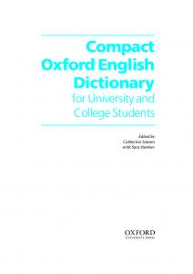 Compact Oxford English Dictionary - Logobook.ru