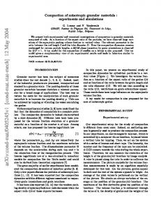 Compaction of anisotropic granular materials: experiments and ...
