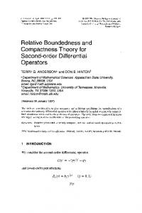 Compactness Theory for Operators - RIMS, Kyoto University