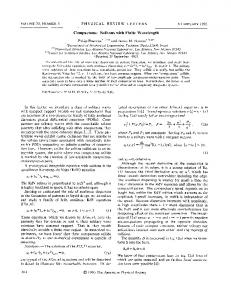 Compactons: Solitons with finite wavelength - Physical Review Link