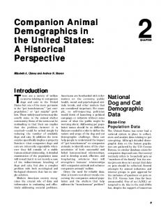 Companion Animal Demographics in the United States - cats, trespass ...