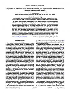 Comparative ab initio study of the structural, electronic, and magnetic ...