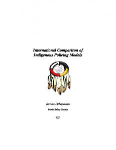 Comparative Aboriginal Policing Models: Canada, United States ...