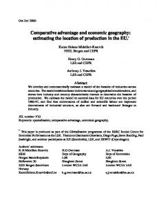 Comparative advantage and economic geography