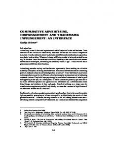 comparative advertising, disparagement and